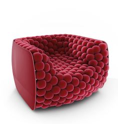 Armchair with shiny scratch-resistant ABS structure, the spheres that provide the cushioning of the seat and the back are covered… more