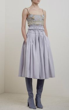 Sibylle Cotton Silk Skirt by BROCK COLLECTION for Preorder on Moda Operandi