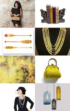 Mustard , Yellow , Black , And...Me  by Elinor Levin on Etsy--Pinned with TreasuryPin.com