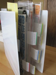 Organize scrap-booking letter stickers