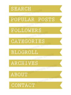 Yellow Flag Sidebar Titles : Envye, A Design Shop by Wonder Forest