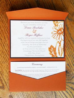 Fall Wedding Invitation Package by Alison Schoenberger, via Behance