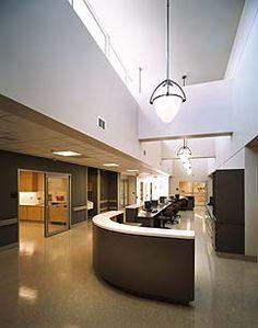 nurse desk, light, floor Waiting Room Design, Waiting Rooms, Nurses Station, Desk Light, Hospitals, Ceiling Lights, Flooring, Health, Home Decor