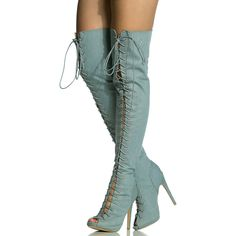 62b2a3598fdc chic women hot selling peep toe lace up shoes over-the-knee stiletto heel  thigh high boots fashion newest footwear