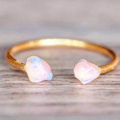 NEW    Gold Little Raw Opal Ring    Also comes in Rose Gold and Sterling Silver    Available in our 'NEW' Collection at www.indieandharper.com