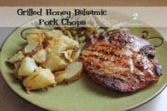 Kristin's Kitchen: Grilled Honey Balsamic Pork Chops