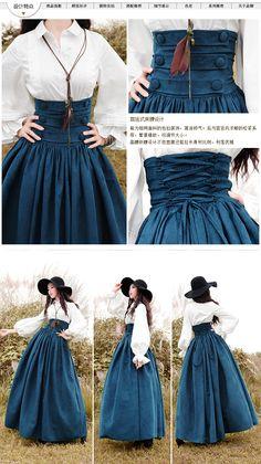 [ Lynette's CHINOISERIE BOSHOW ] 2015 весна оригинальный дизайн женщины тонкий европа королевский эластичный высокой талией макси юбка Sz sml купить на AliExpress