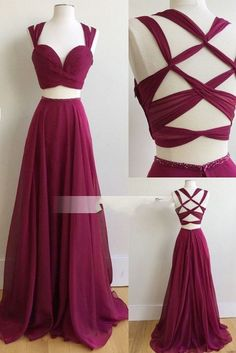 Two Piece Long Prom Dress, 2018 Burgundy Long Prom Dress, Formal Evening Dress Prom Dress Two Piece Prom Dress Evening Dress Long 2019 Evening Dress Burgundy Evening Dress Prom Dresses long dress Besides the picture color, you can choose Evening Dress Long, Burgundy Evening Dress, Chiffon Evening Dresses, Formal Evening Dresses, Dress Formal, Formal Gowns, Burgundy Dress, Maroon Dresses Formal, Maroon Prom Dress