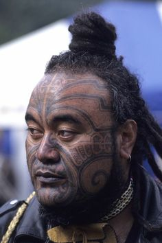 Face maori New Zealand