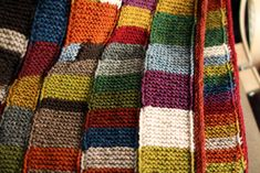 Syncopation Blanket. AWESOME stash-buster and carry along knitting project.