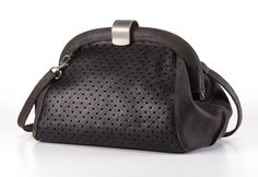 Black Leather Purse / Textured Clutch / by EllenRubenBagsShoes, $199.00