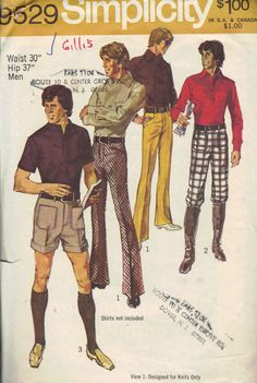 Simplicity Sewing Pattern Retro Men's by AdeleBeeAnnPatterns, $7.00