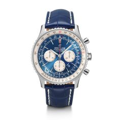 Discover the Breitling Navitimer Chronograph 46 in a combination of Steel, Aurora Blue and Blue Croco. Breitling Navitimer, Breitling Watches, Blue Tang, Slide Rule, Watch This Space, Blue Box, My Bags, Red Gold, Chronograph