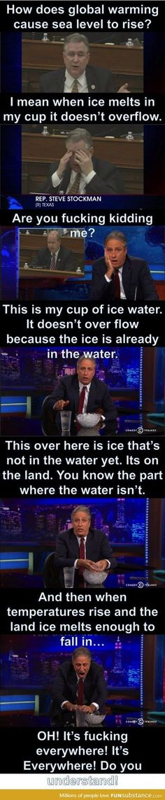 Science explained simple enough for a Congressman...at least we hope it is simple enough.