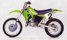 Kawasaki KLX 250 Side Panel Decals AHRMA Vintage Motocross 1979