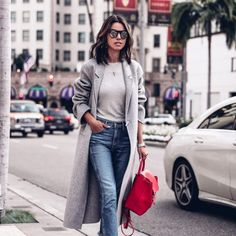 Grey Coat Outfits, 5