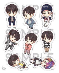 Sehun Fanart Kpop Exo, Exo Chanyeol, Exo Stickers, Exo Fan Art, Cute Couple Art, Fanarts Anime, Bts Chibi, Kpop Fanart, Exo Lockscreen