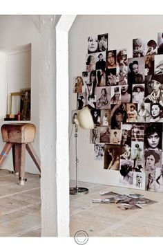 Cool Wall Display in heart shape & different photo sizes