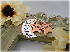 I Love You To The Moon And Back  by DanielleJoyDesigns on Etsy, $33.00