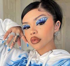 Cute Makeup Looks, Makeup Eye Looks, Eye Makeup Art, Gorgeous Makeup, Pretty Makeup, Hair Makeup, Dope Makeup, Edgy Makeup, Eye Makeup Designs