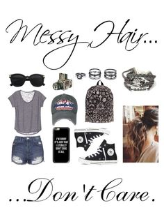 """""""#MessyHair"""" by daydreamer124 on Polyvore featuring Topshop, Converse, Casetify, Sounds Like Home and Lulu*s"""