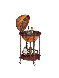 Globe Drinks Cabinet Copia on wheels