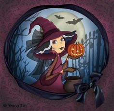Image discovered by María José. Find images and videos about Halloween, arte and drawing on We Heart It - the app to get lost in what you love. Halloween Painting, Halloween Art, Holidays Halloween, Happy Halloween, Creation Photo, Illustration Art, Illustrations, Witch Art, Halloween Images