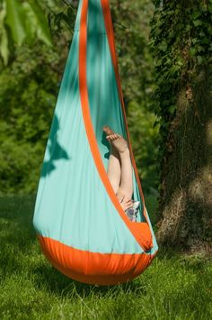 Hanging Crow's Nest Hammock Swing. Indoor-Outdoor Swing for Kids, designed in Germany. $119.95 from Bella Luna Toys