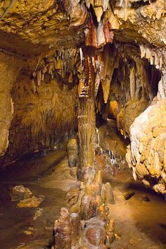 Cave of the Mounds, a natural limestone cave located near Blue Mounds, Wisconsin,