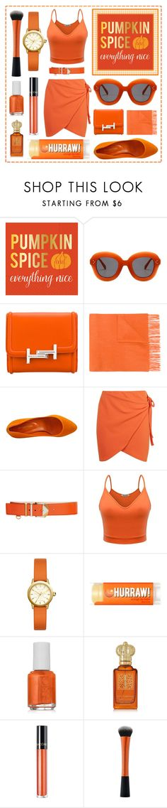 """""""Pumpkin Everything 🎃"""" by thefetchlife ❤ liked on Polyvore featuring Design Design, Tod's, N.Peal, Sergio Rossi, Boohoo, Versace, Tory Burch, Essie, Clive Christian and Lancôme"""
