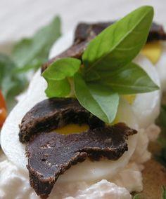Biltong and mozerella salad [ NYBiltong.com ] #biltong #recipe #flavor