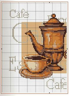 Coffee pot with cup and saucer PART 1