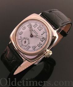 1930 9ct rose gold cushion vintage Rolex Oyster watch