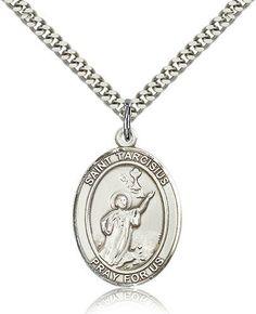 749bb61ddde St. Tarcisius Medal. Football MedalsJewelry GiftsMen's JewelryJewelery Catholic ...