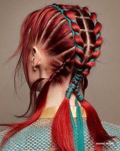 Box Braids Hairstyles, Pretty Hairstyles, Rainbow Hairstyles, Fantasy Hairstyles, Hairstyles Videos, Hairstyles Men, African Hairstyles, Grunge Hairstyles, Urban Hairstyles