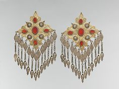 Floral Pectoral Ornament, late 19th - early 20th Century, Turkmen