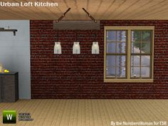 riccinumbers' Modern Urban Rustic Loft Kitchen Ceiling Light