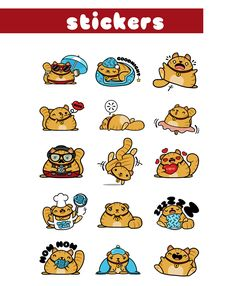 Fatty Cat Stickers for Looksery on Behance