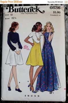 25% Pattern Sale Butterick 6636 1960s 60s by EleanorMeriwether