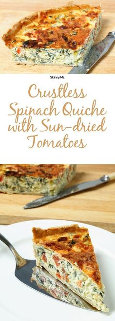 Our Spinach Quiche with Sun-Dried Tomatoes is packed with protein, a dose of essential amino acids, and vitamins like riboflavin and folic acid. Each bite is laden with light and fluffy egg texture. Chewy sun-dried tomatoes and wilted spinach make the dish burst with vibrant flavor and color. It's the perfect meal to satisfy grumbling tummies!