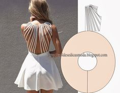 back details, learn to sew Diy Clothing, Sewing Clothes, Clothing Patterns, Dress Patterns, Sewing Patterns, Robe Diy, Diy Vetement, Make Your Own Clothes, Diy Couture