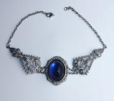Blue Winter Necklace by Pinkabsinthe on DeviantArt