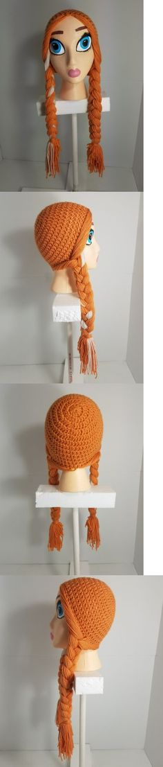 Hats 15630: Handmade Crochet Disney Anna Inspired Wig Beanie With Handpainted Head -> BUY IT NOW ONLY: $39.95 on eBay!