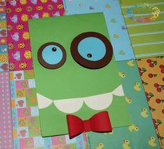 Biglietto di auguri per bambini... Un mostricciatolo vi augura un Buon Compleanno!!!