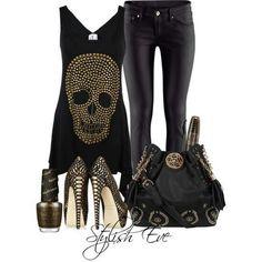 Great fun outfit. Would be good for rock in roll concert or a punk on too