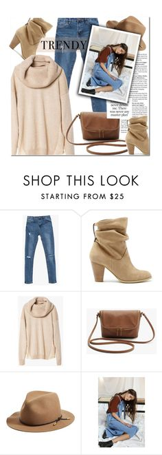 """Nude + Jeans"" by genuine-people ❤ liked on Polyvore featuring Sole Society, rag & bone, brown, beige and fashionset"