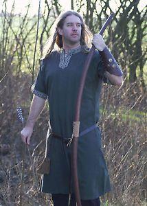 Tunika kurzarm, grün Mittelalter Reenactment LARP Bekleidung Römer
