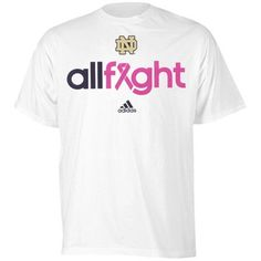 Notre Dame Breast Cancer Awareness All Fight T-Shirt