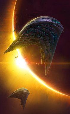 Alien Spaceship, Spaceship Design, Spaceship Concept, Arte Sci Fi, Sci Fi Art, Space Ship Concept Art, Alien Ship, Cyberpunk, Sci Fi Spaceships