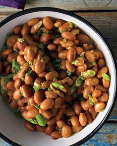 Pinto Beans With Bacon And Scallions
